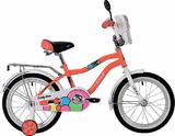 """Детский велосипед Novatrack Candy 16"""" от 4 до 6 лет красный"""