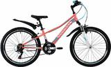 """Горный подростковый велосипед NOVATRACK Valiant 24"""" кораловый"""