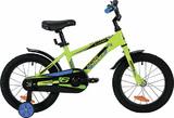 """Детский велосипед Novatrack LUMEN 16"""" от 4 до 6 лет зеленый"""