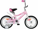 """Детский велосипед Novatrack NOVARA 14"""" от 3 до 5 лет бело-розовый"""