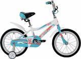 Детский велосипед Novatrack Novara 16'' от 4 до 6 лет бело-голубой
