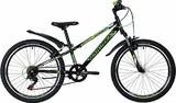 """Подростковый горный велосипед Novatrack Extreme 24"""" зеленый"""