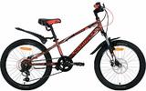 """Детский велосипед со скоростями Novatrack Extreme 20"""" коричневый"""