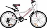 """Детский велосипед со скоростями Novatrack Alice 20"""" белый"""