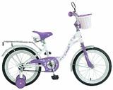 """Детский велосипед Novatrack Butterfly 16"""" фиолетовый"""