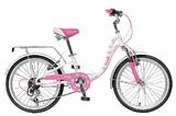 """Детский велосипед Novatrack Butterfly 20"""" 6 скор. розовый"""