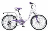 """Детский велосипед Novatrack Butterfly 20"""" 6 скор. фиолетовый"""