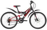 """Подростковый горный велосипед Foxx Freelander 24"""" черный"""