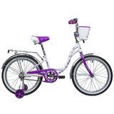 Детский велосипед Novatrack Butterfly 20'' фиолетовый