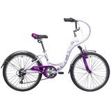 """Подростковый велосипед Novatrack Butterfly 24"""" фиолетовый"""