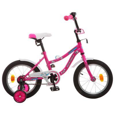 """Детский велосипед Novatrack Neptun 16"""" от 4 до 6 лет розовый"""