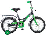 Детский велосипед Novatrack Strike 16'' от 4 до 6 лет черно-зеленый