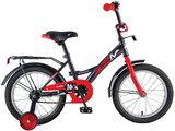 Детский велосипед Novatrack Strike 16'' от 4 до 6 лет черно-красный
