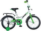 Детский велосипед Novatrack Strike 16'' от 4 до 6 лет бело-зеленый