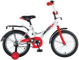 Детский велосипед Novatrack Strike 16'' от 4 до 6 лет бело-красный