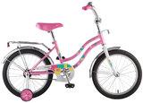 """Детский велосипед Novatrack Tetris 16"""" от 4 до 6 лет розовый"""