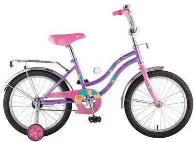"""Детский велосипед Novatrack Tetris 16"""" от 4 до 6 лет фиолетовый"""
