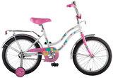 """Детский велосипед Novatrack Tetris 16"""" от 4 до 6 лет белый"""