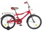 """Детский велосипед NOVATRACK Cosmic 16"""" от 4 до 6 лет красный"""