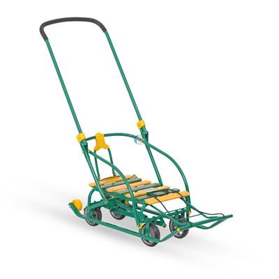 Санки детские Nika Nikki 3 (выдвижные колеса) зеленый