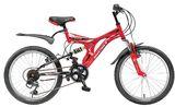 Детский велосипед со скоростями Novatrack Titaniun 20'' красный