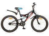 Детский горный велосипед Novatrack Shark 20'' 1 ск.  черный