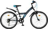 Подростковый велосипед Novatrack Racer 24'' черный