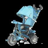 Детский трехколесный велосипед Tech Team 952S с колесами ПВХ бирюзовый
