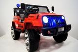 Детский полноприводный электромобиль RiverToys Jeep Т008ТТ 4*4 красный