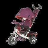 Детский трехколесный велосипед Tech Team 950D с колесами ПВХ фиолетовый