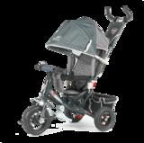 Детский трехколесный велосипед Tech Team 950D-AT с надувными колесами серый