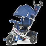 Детский трехколесный велосипед Tech Team 950D-AT с надувными колесами синий