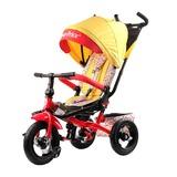 Трехколесный велосипед Fisher-Price с поворотным сиденьем с родительской ручкой желтый