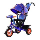 Трехколесный велосипед с родительской ручкой Hot Wheels синий