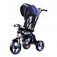 Складной 3-хколесный велосипед Smartbaby с поворотным сиденьем синий