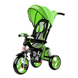 Складной 3-хколесный велосипед Smartbaby с поворотным сиденьем зеленый