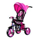 Складной 3-хколесный велосипед Smartbaby с поворотным сиденьем розовый