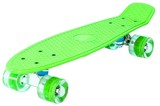 "Скейтборд Classic 22"" 56x15 пластик со светящимися колесами Зеленый"
