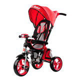 Складной 3-хколесный велосипед Smartbaby с поворотным сиденьем красный