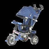 Детский трехколесный велосипед Tech Team 952S с колесами ПВХ синий
