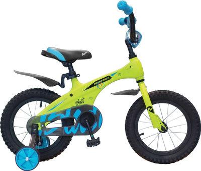 Детский велосипед Novatrack Blast 14'' от 3 до 5 лет зеленый