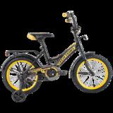 """Детский велосипед Tech Team 135 12"""" от 2 до 4 лет черный"""