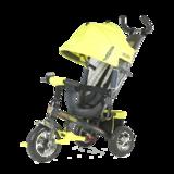 Детский трехколесный велосипед Tech Team 952S с колесами ПВХ салатовый