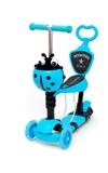 Самокат Scooter 21st.5в1 Божья коровка синий