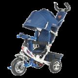 Детский трехколесный велосипед Tech Team 950D с колесами ПВХ синий