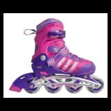 Раздвижные роликовые коньки Soft 2019 розовые