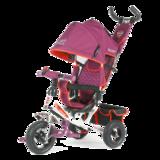 Детский трехколесный велосипед Tech Team 950D-AT с надувными колесами фиолетовый