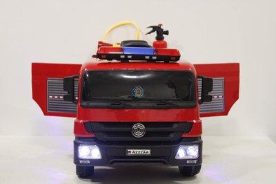 Детский электромобиль A222AA  с дистанционным управлением Пожарная машина