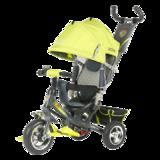 Детский трехколесный велосипед Tech Team 950D с колесами ПВХ салатовый