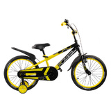 "Велосипед Lamborghini Strada 18"" от 5 до 7 лет желтый"